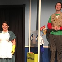 Missy Moreno (left) and Nathaniel Yost (right) in <i>Bubble Boy: The Musical </i>