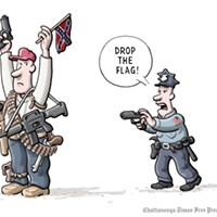 """Armed,"" by Clay Bennett of the <em>Chattanooga Times Free Press</em>"