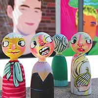 Dolls painted by Jennifer Howison