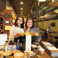 General manager Shireen Attar and server Sarah Alkayed at Best Middle-Eastern Restaurant Aladdin's Eatery