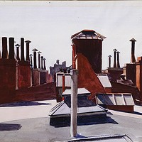 "Edward Hopper's watercolor ""Roofs, Washington Square"" (1926)"