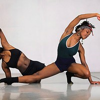 Kiera Brinkley (left) performs March 18-20 with Texture Contemporary Dance. This photo depicts her performing an earlier work with her sister, Uriah Boyd.