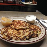 Stop by the Dari-Villa, in Bellevue, for fresh potato pancakes