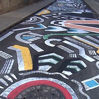 Artist brightens Pittsburgh's Strawberry Way with mural underfoot