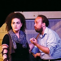 Jessie Wray Goodman and David Loehr in <i>Julius Caesar</i>, at Throughline Theatre