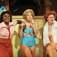 From left to right: Nkeki Obi-Melekwe, Erika Henningsen and Mara Newbery in Pittsburgh CLO's <i>South Pacific</i>