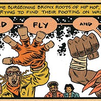 The Cold Crush Brothers, as depicted by Ed Piskor in <i>Hip Hop Family Tree Book 4</i>