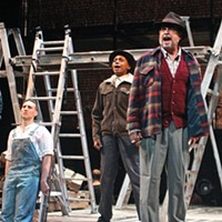 From left: Danny McHugh, Gena Simms and Daniel Krell in Front Porch Theatricals' <i>Floyd Collins</i>