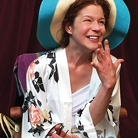 Karen Baum in <i>Shirley Valentine</i> at PICT Classic Theatre