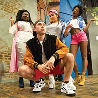 From left: Arica Jackson, Krista Antonacci, Amber Jones and Jordan Bolden in <i>Wig Out!</i>, at The REP.