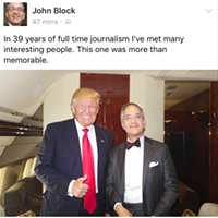 Pittsburgh Post-Gazette publisher hangs on Donald Trump's jet in a 'more than memorable' experience
