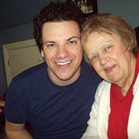 Brandon Grbach and his grandmother