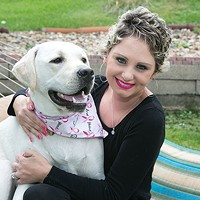 Meghan Koziel with her dog Tizzy