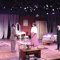 Dionysius Westbrook (left), Tyler T. Cruz and Nick Bernstein in <i>Intimate Apparel</i> at University of Pittsburgh Stages