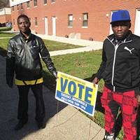 Abdulkadir Chirambo (left) and Abdulkadir Hassan in Northview Heights, home of Pittsburgh's Somali Bantu community