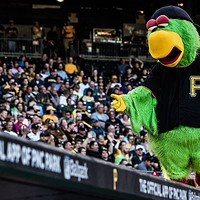 The Pirate Parrot at a Pittsburgh Pirates game at PNC Park this spring