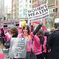 Protesters rally in support of Planned Parenthood in 2011