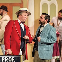 Andy Folmer (left) and Christopher Martin in Stage 62's <i>The Music Man</i>
