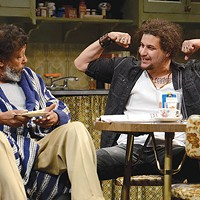 Eugene Lee (left) and Alejandro Hernandez in <i>Between Riverside and Crazy</i>, at the Public