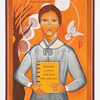 The late Peter Oresick's painting of Emily Dickinson