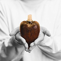 "Donation No. 10: ""A Wooden Heart-Shaped Perfume Bottle"""