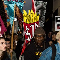 Pittsburgh workers walk off jobs and rally Downtown to protest for higher wages