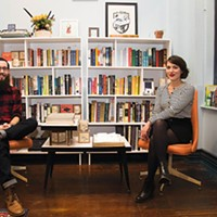 John Shortino and Allison Mosher, owners of Nine Stories in Lawrenceville