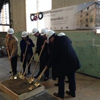 Groundbreaking at Bloomfield Lofts