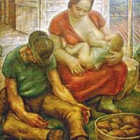 """Samuel Rosenberg's 1941 painting """"Rest"""""""