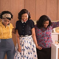 Janelle Monae, Taraji P. Henson and Octavia Spencer take a break from calculating.