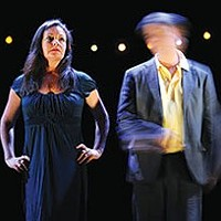 "Claire Marshall and Richard Lowdon in ""Tomorrow's Parties"""