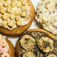 An assortment of donuts from Just Good Donuts