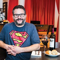 Owner Brian Keyser in Casellula's dining room