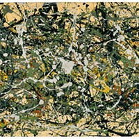 "Jackson Pollock's ""Number 8, 1949.""  Collection Neuberger Museum of Art"
