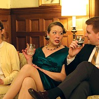 From left: Hilary Caldwell, Joanna Lowe and Tom Kolos in Cup-A-Jo's <i>Who's Afraid of Virginia Woolf? </i>