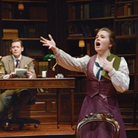 Allan Snyder and Danielle Bowen in <i>Daddy Long Legs</i>, at Pittsburgh Public Theater