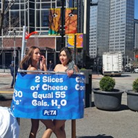 PETA marks World Water Day with demonstration in Downtown Pittsburgh