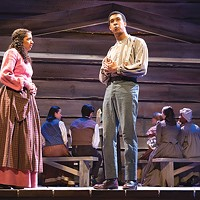 Aenya Ulke and Jared Smith in <i>Uncle Tom's Cabin</i>, at Point Park Conservatory