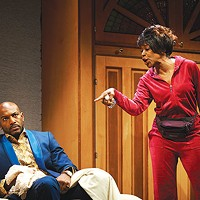 Corey Jones and C. Kelly Wright in <i>Wild With Happy</i>, at City Theatre