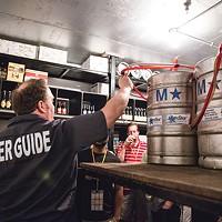 Barry Hansen leads a tour for City Brew Tours.