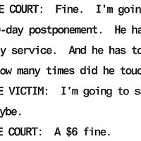 An excerpt from the court transcript