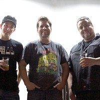 Left to right: Dave Allam, Parkway Theater owner Aaron Stubna and Tom Glover