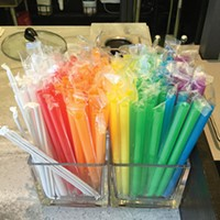 "Extra-big straws for ""bubbles"""