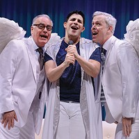 Left to right: John Shepard, Marcus Stevens and Tim McGeever in<i> An Act of God</i>