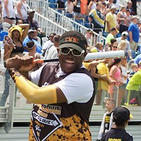 Celebrities turn out for Pittsburgh Steelers wide receiver Antonio Brown's charity softball game