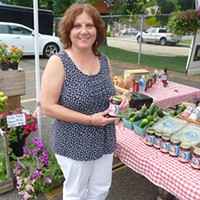 Ford City borough councilor Kathy Bartuccio at the Ford City farmers market in June