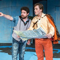 Patrick Halley (left) and Ethan Saks in Kinetic Theatre's <i>The Liar</i>