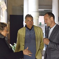 Steve Mendelson (center) with Helene de Franchis and Emil Lukas in Venice earlier this year