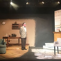 Greg Caridi (left) and Dalton Wynegar in <i>Trumbo </i>at South Park Theatre