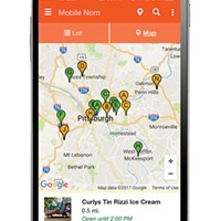 Mobile Nom, an app built by Pitt students, provides real-time food-truck locations in Pittsburgh and beyond
